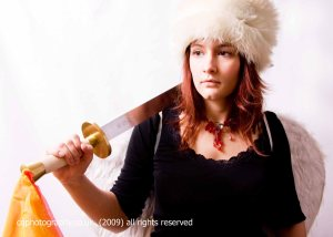 Me with a sword and a furry hat.  Oh, and fairy wings.