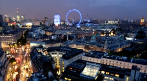 The Cit of London at night