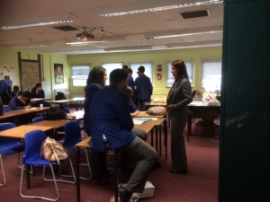 Me in my shabby classroom with my Year 11 class.