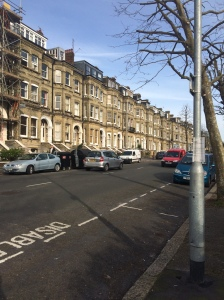 Place where I had to stop on my Hove run.